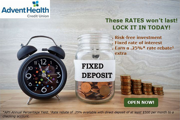 These rates won't last! Lock it in today! Risk free investment. Fixed rate of interest.